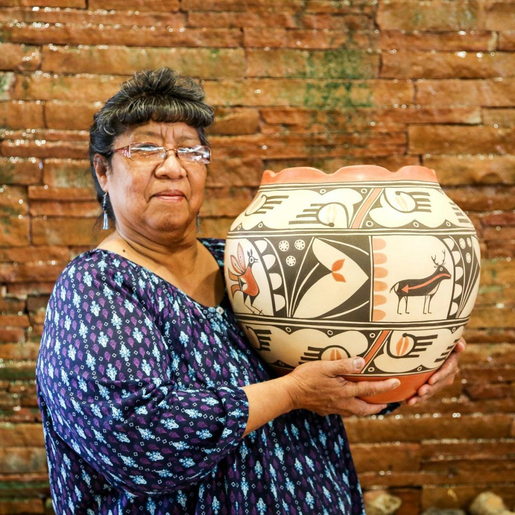 Elizabeth Medina at the Indian Pueblo store