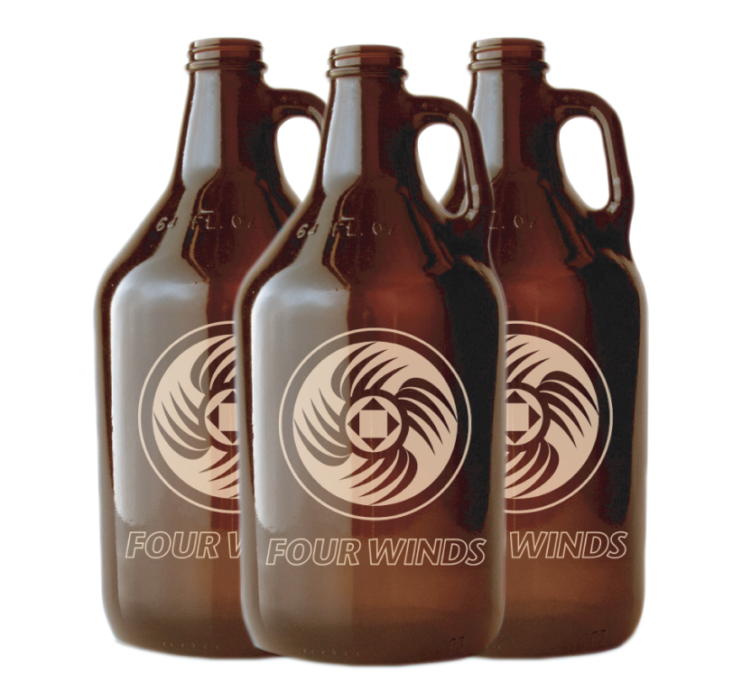 Local Beer Growlers at Four Winds Convenience Center