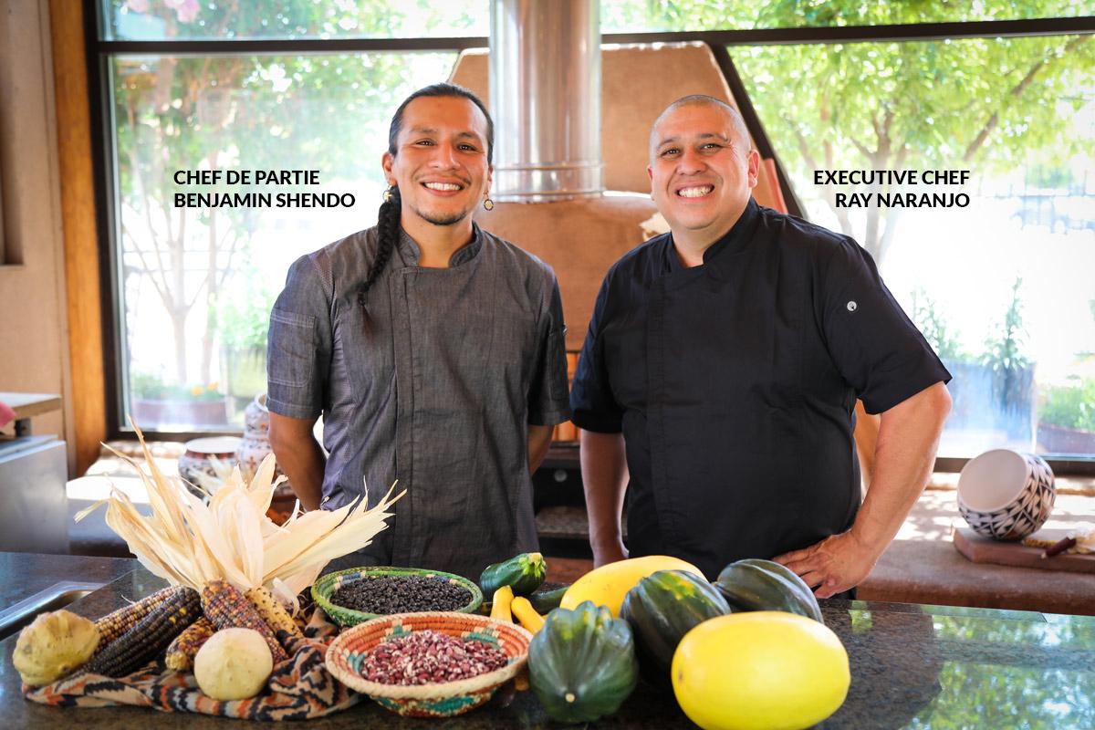 Chef De Prtie Benjamin Shendo and Executive Chef Ray Naranjo