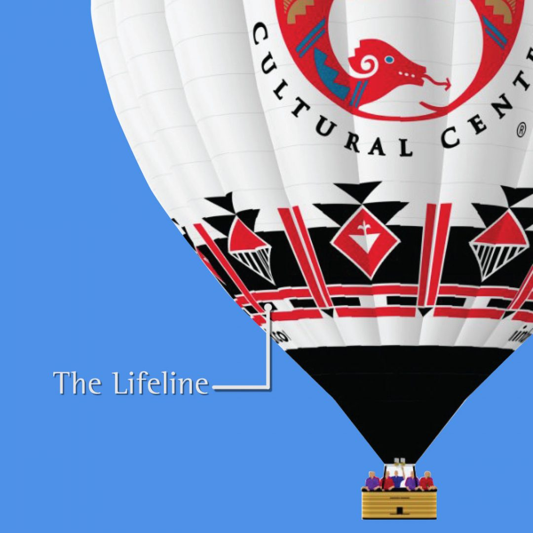 Lifeline in IPCC's hot air balloon meaning