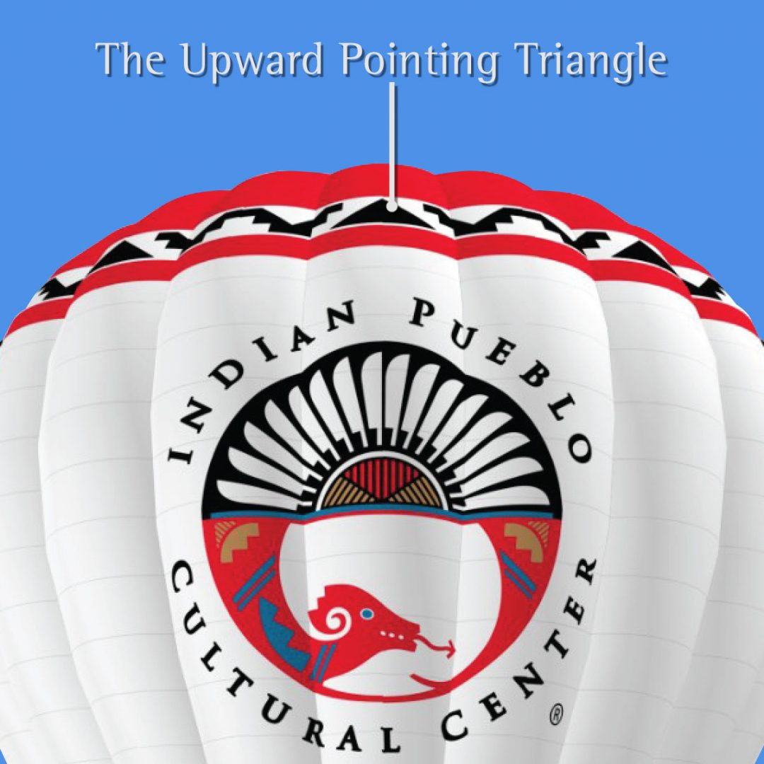 Indian Pueblo Cultural Center Balloon Design Meaning of Triangle