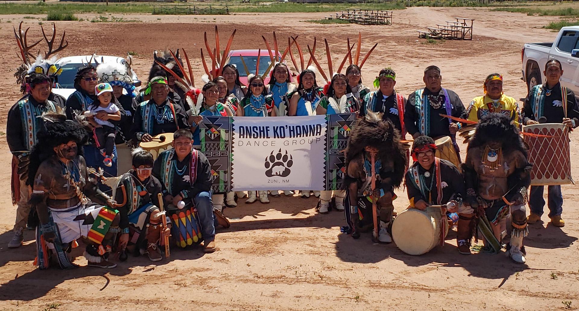 Anshe Ko'hanna Dance Group (Zuni) Balloon Fiesta at the Indian Pueblo Cultural Center
