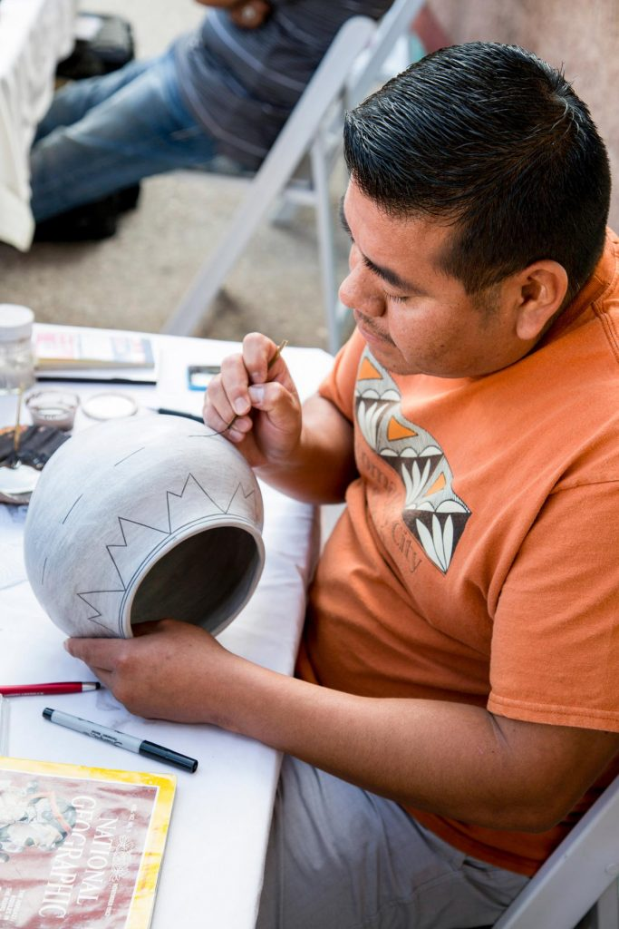 Eric Louis Acoma Pottery Daily Artist at IPCC
