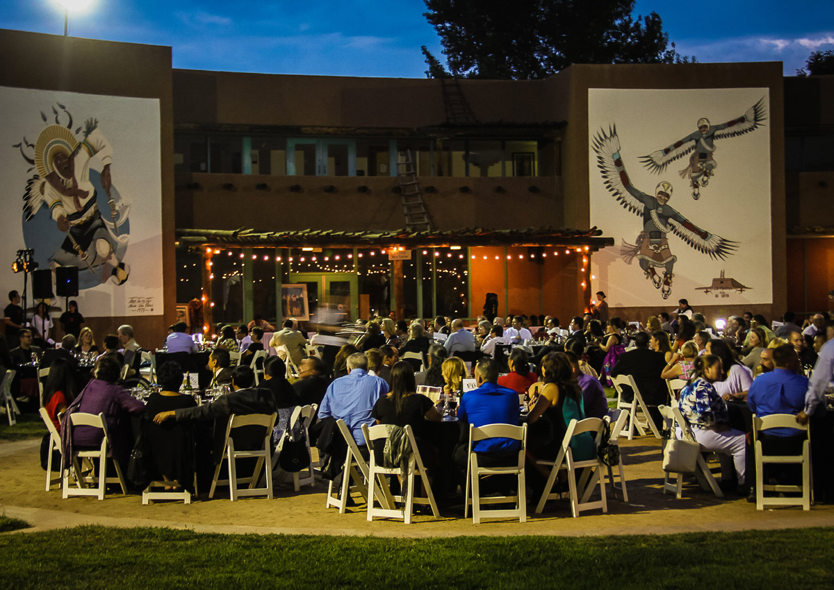 Dining in the mural lined courtyard