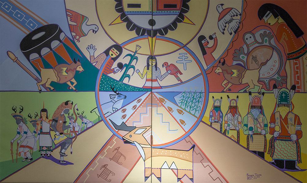 Mural by Francis Tafoya of Santa Clara Pueblo