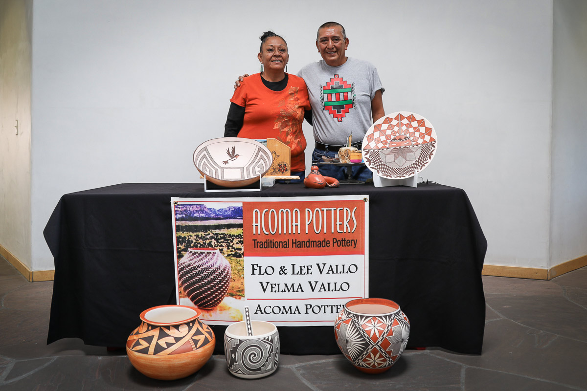 Flo & Lee Vallo Acoma Potters Demonstration on August 21, 2021