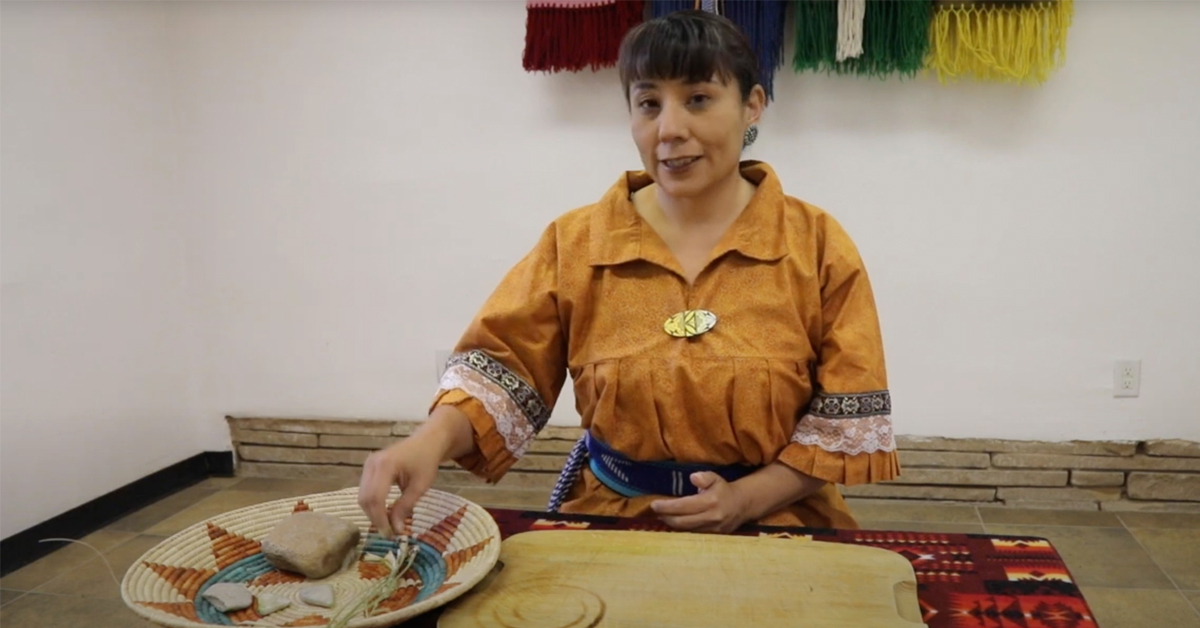 Yucca Cordage demo at indian pueblo cultural center